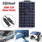 Elfeland 30W 12V Mono Semi-Flexible Solar Panel Battery Charger For RV Boat