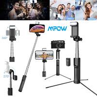 Mpow Bluetooth Selfie Stick Camera Tripod Phone Holder Monopod Fill Light Remote