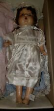 "Vintage Antique 24"" Composition Baby Doll Sleepy Eyes, Teeth, Tongue"