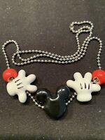 Mickey Mouse Necklace Hands Ears Marked Disney Ceramic DisneyWorld Vintage