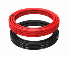 12 AWG Gauge Wire Silicone Flexible Copper Stranded Cables For RC Black + Red
