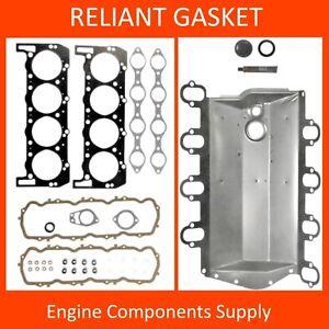88-94 FITS FORD 7.3 7.3L DIESEL INTAKE PAN HEAD GASKET SET MAHLE HS5869 MS15968