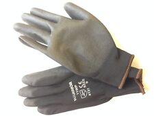 10 Pairs Black Nitrile Coated Gloves ** General Purpose ** Mechanics ** Size 9