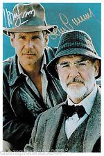 Harrison Ford-Sean Connery++Autogramm++Indianer Jones++