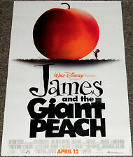 JAMES & THE GIANT PEACH 1996 ORIG. 18x27 MOVIE POSTER! DISNEY ANIMATION CLASSIC!