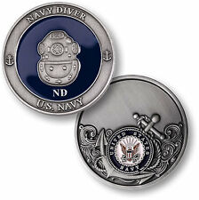 US Navy Diver Challenge Coin ND Rating Rate Deep Sea Diving Hardhat SCUBA UDT PO