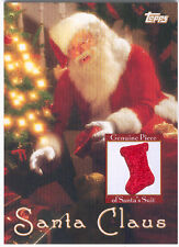 TOPPS SANTA CLAUS CERTIFIED PIECE OF HIS SUIT RELIC WOW - MERRY CHRISTMAS KIDS!!