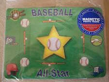 Baseball 4-In-1 Magnetic Photo Frame, (3 Photo Frames & 1 Magnet) NEW IN PACKAGE