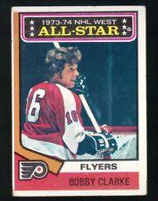 1973 -  1974 Topps Hockey Set BOBBY CLARKE ALL STAR AS Card #135