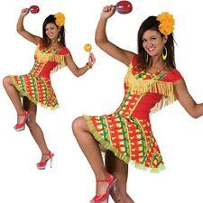 Ladies Mexican Lady Costume Spanish Senorita Fancy Dress Flamenco Womens Outfit