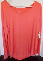NWT Gap Women's Luxe T-Shirt Top Peach Small & Medium Free Ship New MSRP $27