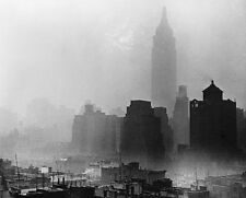 EMPIRE STATE BUILDING IN FOG NEW YORK CITY 11x14 SILVER HALIDE PHOTO PRINT