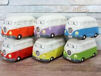 Camper Van Money Box Bank 6 colours Red Green Blue Yellow Purple Orange