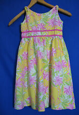 Lilly Pulitzer Size 6 Dress Yellow Pink Elephants