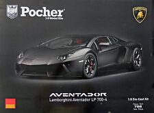 Pocher Lamborghini Aventador 1:8 mattschwarz  HK102