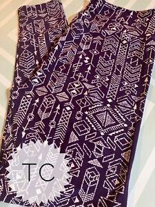 Lularoe TC Leggings New Release Purple Aztec Arrows Geometric