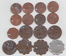 Lot of 16 different Knights of Columbus 541 Good For Trade tokens Terre Haute IN