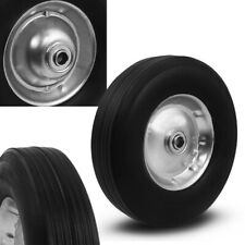 "10"" Flat Free Tubless Tire Wheel for Handtruck Dolly Go Kart Wagon Hand Truck"