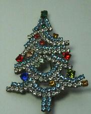 Christbaum Strass Brosche Weihnachtsbaum Christmas tree Brooch Gablonz Nr.73