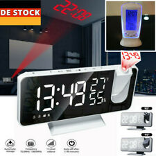 Digital Wecker Projektionswecker Temperatur USB Projektor Funkuhr Zeitalarm LED
