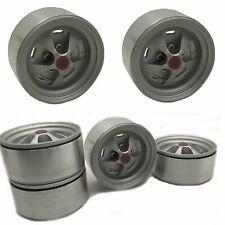 4pcs Metal Beadlock Wheel Rim for 1/10 Axial SCX10 II 90046 Traxxas TRX4 D90 RC