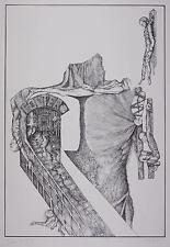 SUZAN HIJAB - Die Zelle - Lithografie 1977/1978