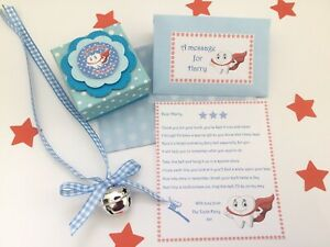 Personalised Tooth Fairy Letter, Fairy Bell, Gift Box, Tooth Fairy Gift, Blue