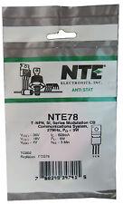 NTE78: NPN RF Power Transistor: 3-4 Watt Output: Ideal for QRP: Great Price
