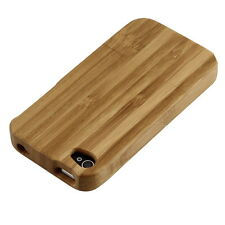 Natural Bamboo Wood Hard Back Case Cover Protector for Apple iPhone 4 4G 4S BX