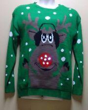 NEW Light Up Reindeer Christmas Sweater Size XL