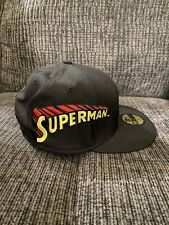 "New Era 59FIFTY ""Superman"" Fitted Hat Black Men's DC Comics Cap READ DESCRIPTION"