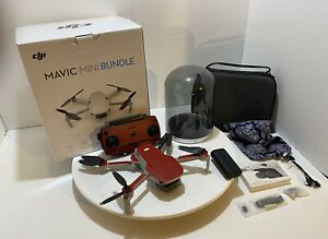 DJI Mavic Mini Bundle with Charging Base and Extra Battery - Red Skinned