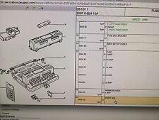 buy car fuses fuse boxes for peugeot 605 ebay rh ebay co uk  peugeot 605 fuse box diagram