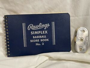 Vintage 1970's SIMPLEX BASEBALL SCORE BOOK Rawlings #3 and Wilson Counter