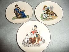 """Norman Rockwell Collector 4 """" Plates-Set of 3"""