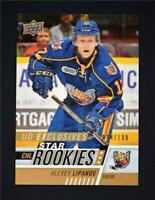 2017-18 Upper Deck UD CHL Star Rookies Exclusives #307 Alexey Lipanov /100