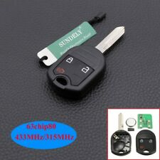 Hot Keyless Remote Key 3 Button For Ford Mustang Exploror Edge 433MHZ 4D63 80Bit