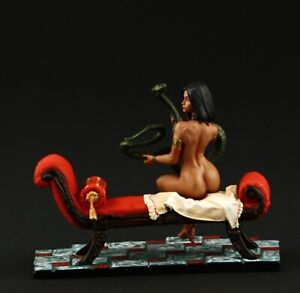 Tin soldier, Collectible Girl with a Snake 54 mm, Ancient Egypt