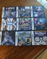 NINETENDO DS GAME LOT/9 GAMES / CASES and INSTRUCTION BOOKLETS