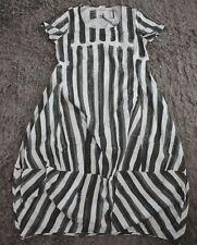 Rundholz Black Label Kurzarm-Ballonkleid Streifen grau-weiß Gr. XL neu