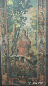 RENAISSANCE STYLE Huntress Linen Wall Hanging TAPESTRY STYLE THEATRE BACKDROP