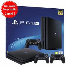 PLAYSTATION 4,PS4 PRO 1TB 4K Gamma,2 CONTROLLER,SCATOLA BIANCA,Nuova,Garanzia