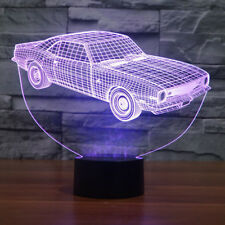 3D Illusion Lamps Car Acrylic Night Light Usb 7 Color Change Table Lamp Cool Toy