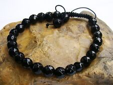 Shamballa Bracelet todos para hombre 8mm perlas natural de piedra preciosa negro ágata