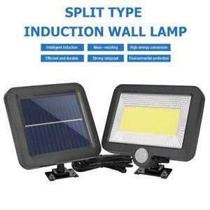 COB 100LED Solar Lamp Motion Sensor Waterproof Outdoor Path Night Lighting