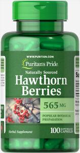 Puritan's Pride Hawthorn Berries 565 mg - 100 Capsules