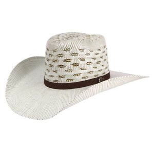 Men's Western Hat El General Sombrero 100X El Cartel Bangora 7 Lineas Brown