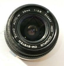 Olympus OM Zuiko Auto-W 28mm f2.8 manual focus lens OM mount