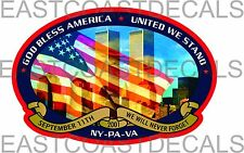 WTC 9-11 New York Pentagon 9/11 Memorial Decal Never Forget 6x4 Decals WTC 911