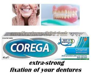 Corega EXTRA STRONG ORIGINAL Denture Fixing Cream 40g